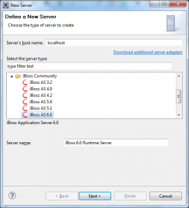 List of runtimes installed in Eclipse
