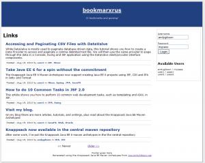 Bookmark Application Screenshot