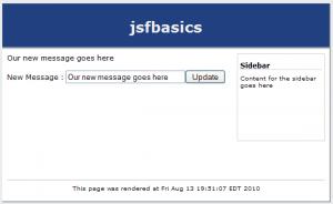 JSF Basic Form Post Screenshot