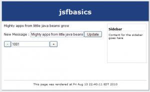 JSF Basics Manual Value Input