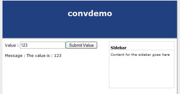Request Scoped Bean Entry Screenshot
